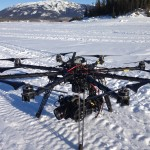 An octocopter witn MOVI-like brushless 3 axis stabilized gimbal