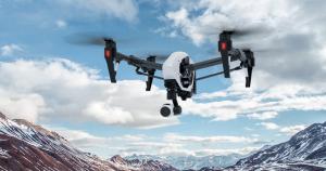 drone UAV hovering in the sky, DJI Inspire